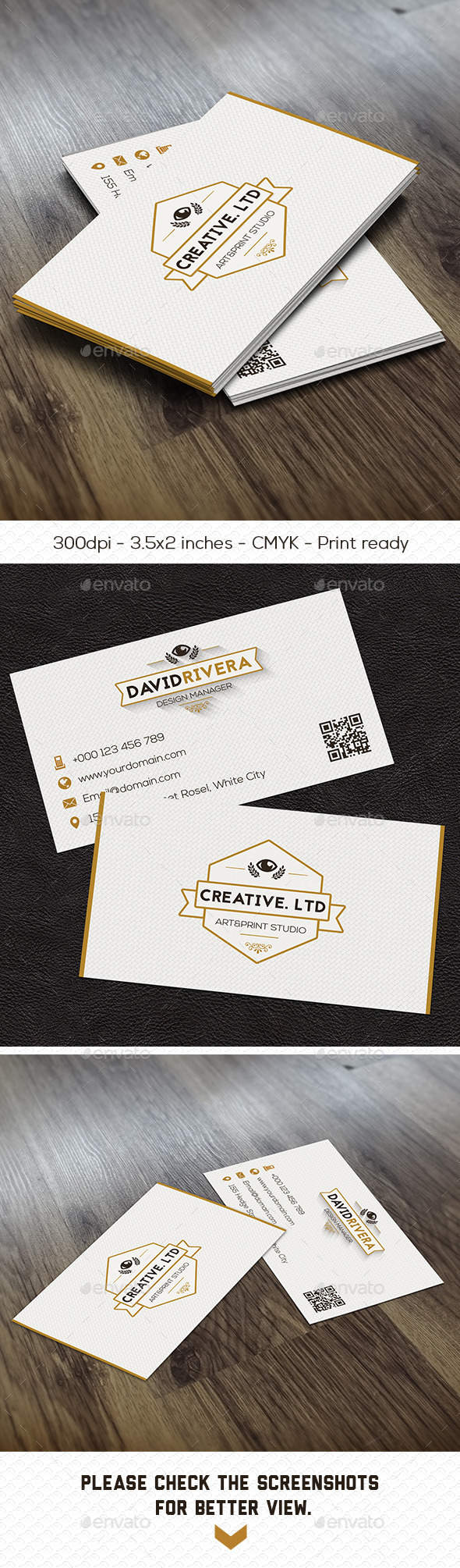 GraphicRiver Angelic White Creative Business Card 8879168