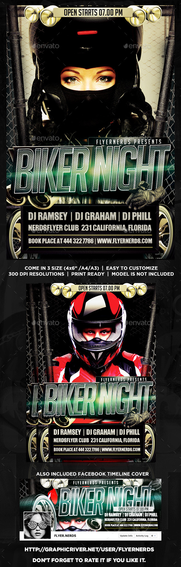 GraphicRiver Biker Night Party Flyer 8879280