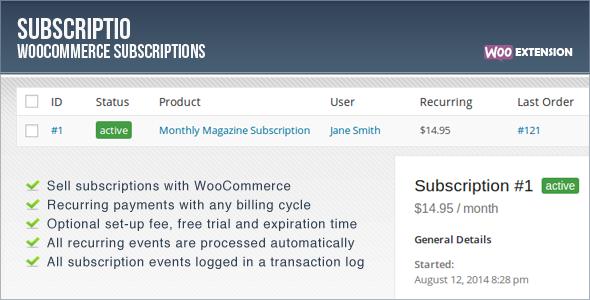 Subscriptio WooCommerce Subscriptions