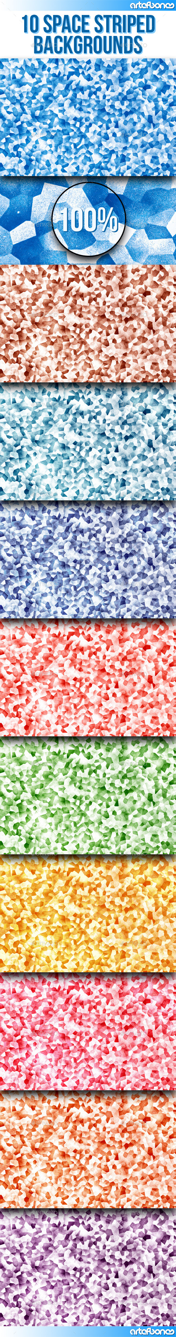 GraphicRiver 10 Crystal Mosaic Backgrounds Vol.2 8879399