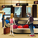 Travelers Waiting for Their Baggage - GraphicRiver Item for Sale