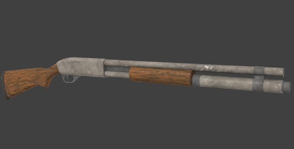 Shotgun Game Asset - 3DOcean Item for Sale