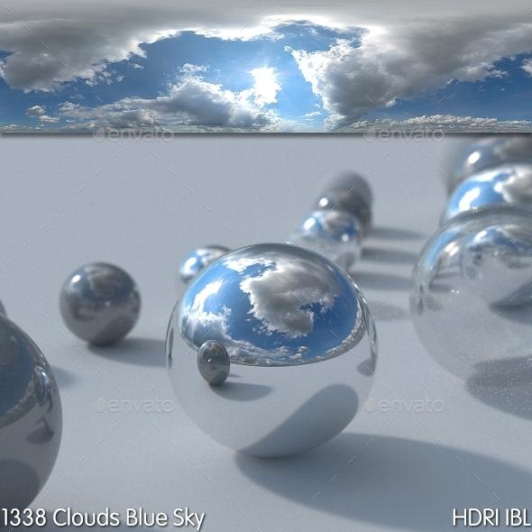 3DOcean HDRI IBL 1338 Clouds Blue Sky 8879654