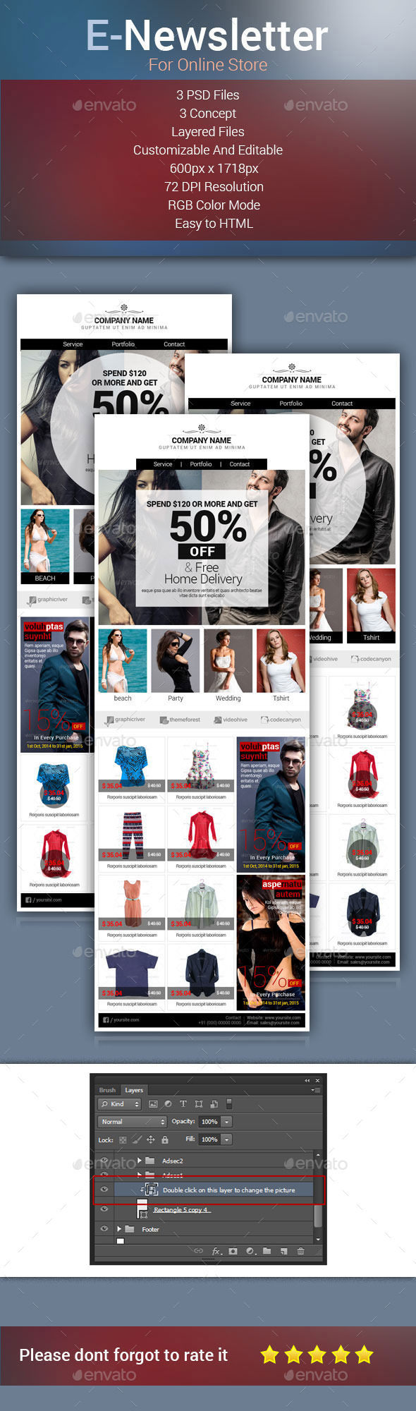 GraphicRiver E-Newsletter for E-Commerce 8879698
