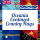 Oceania Continent Country Flags - VideoHive Item for Sale