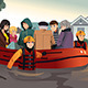 Rescue Team Helping People During Flooding - GraphicRiver Item for Sale