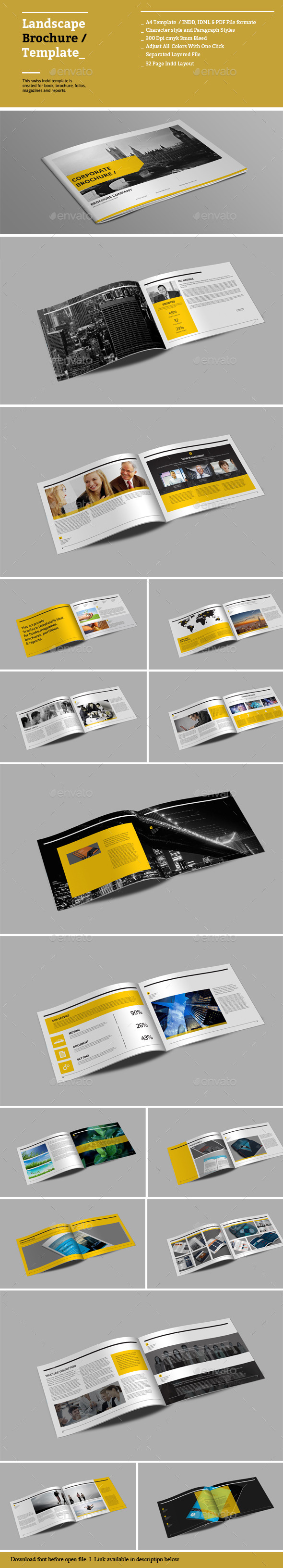 GraphicRiver Landscape Brochure Templates 8879755