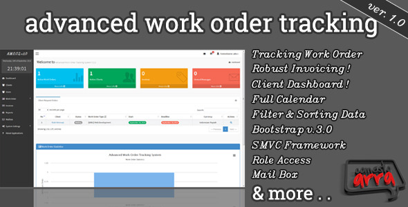 CodeCanyon Advanced Work Order Tracking System 8879861