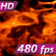 Flames on a Black Background - VideoHive Item for Sale