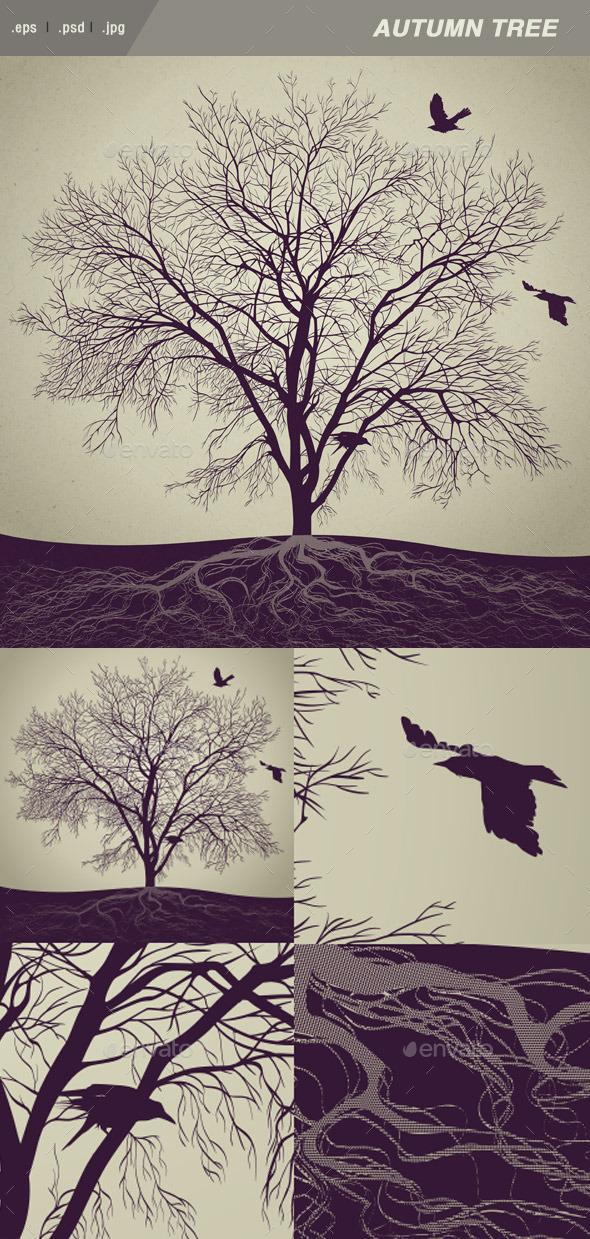 GraphicRiver Winter Tree 8880467
