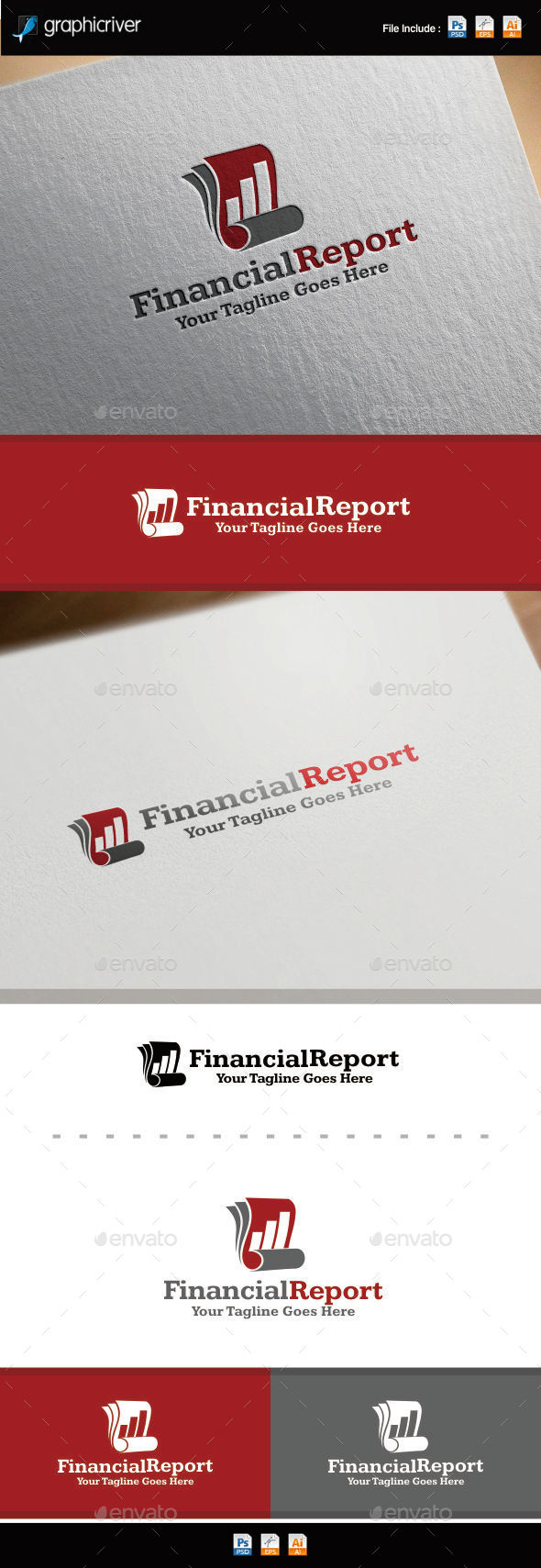 GraphicRiver Financial Reports Logo 8880469