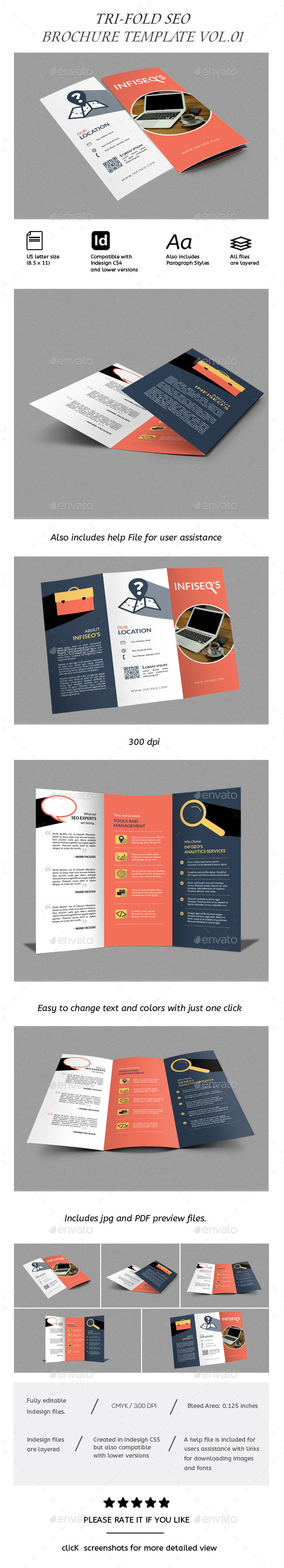GraphicRiver Seo Brochure TriFold 8880604