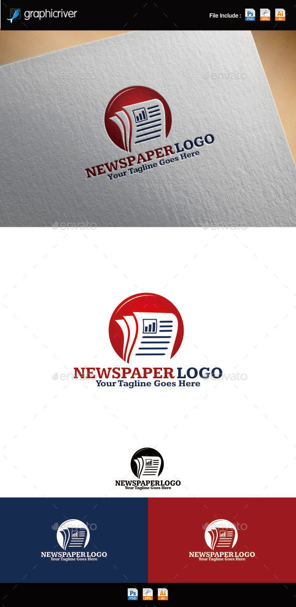 GraphicRiver Newspaper Logo 8880625