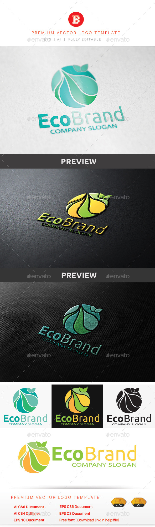 GraphicRiver Eco Brand V.2 8880694