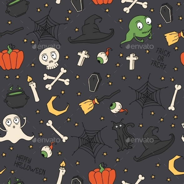 GraphicRiver Happy Halloween Seamless Pattern 8880741