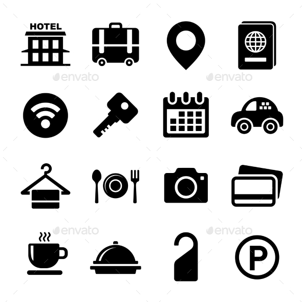 GraphicRiver Hotel Icons Set 8881012