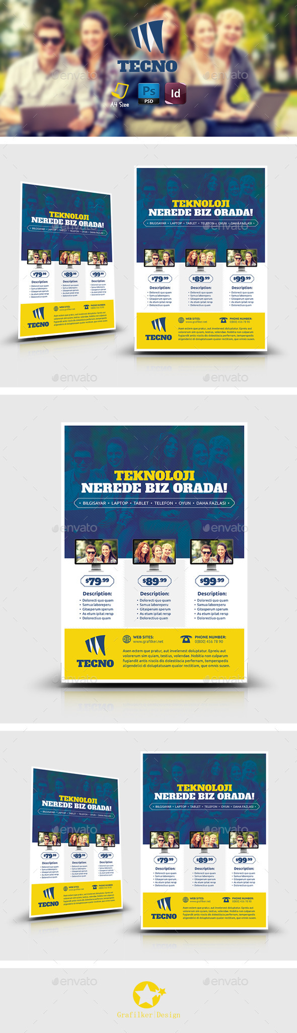 GraphicRiver Tecnology Flyer Templates 8871831