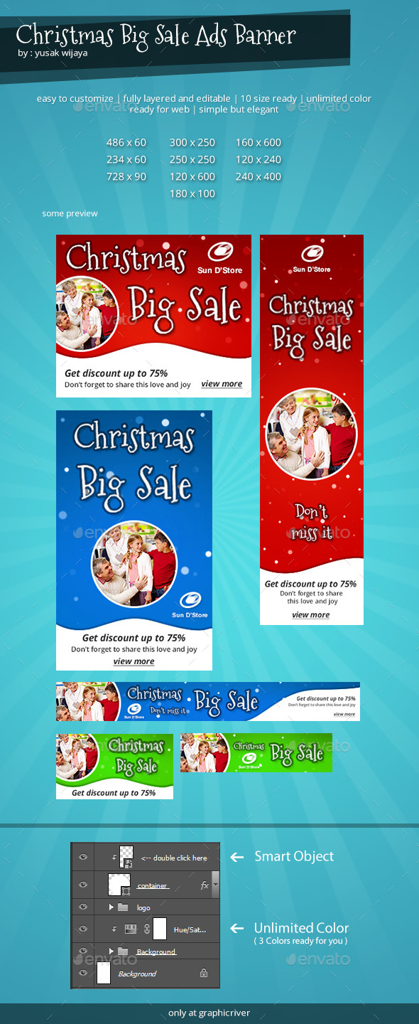 GraphicRiver Christmas Discount Banner 8881775