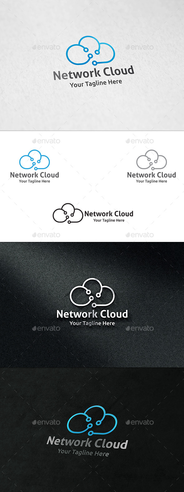 GraphicRiver Network Cloud Logo Template 8881898