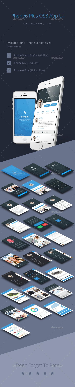GraphicRiver Phone6 Plus OS8 Style App UI 8870577