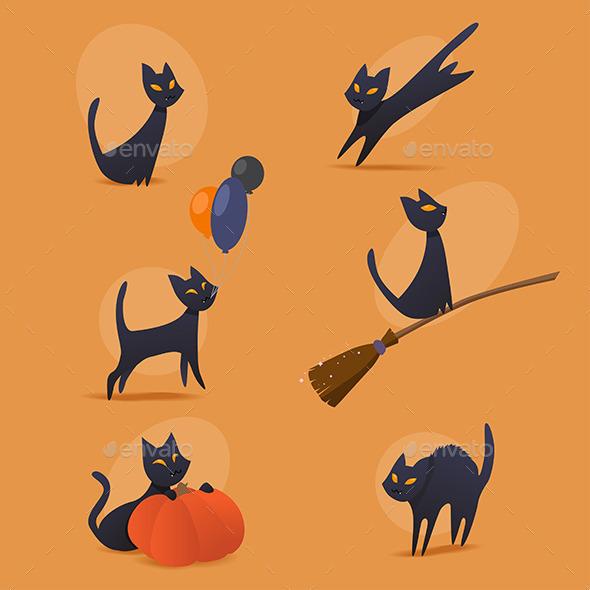 Halloween Cats Set