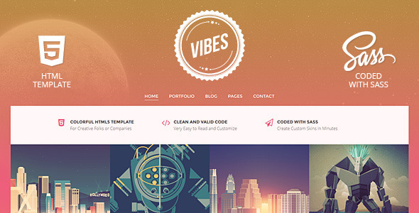 Vibes - Colorful Compact Portfolio (HTML) - Portfolio Creative