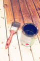 painting wooden table using paintbrush - PhotoDune Item for Sale