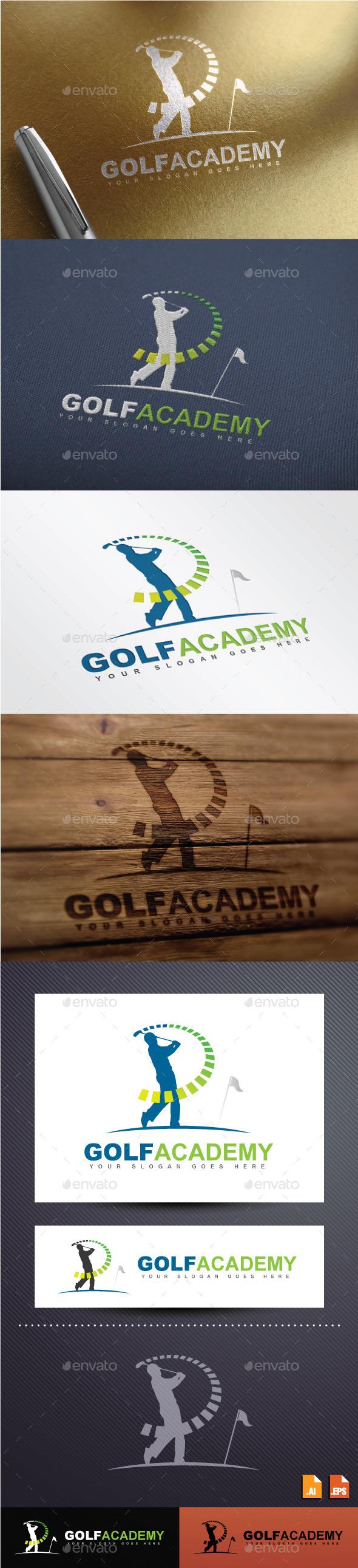 GraphicRiver Golf Academy Logo 8882254