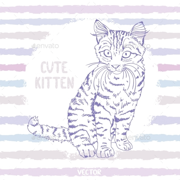 GraphicRiver Kitten Sketch 8882296