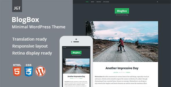 BlogBox - Responsive & Bold WordPress Theme - Personal Blog / Magazine