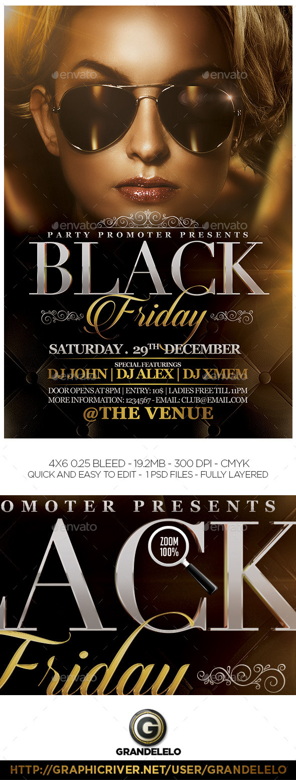 GraphicRiver The Black Friday Flyer Template 8882385