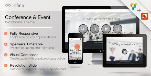 Infine - OnePage Conference & Event WP Theme - Business Corporate