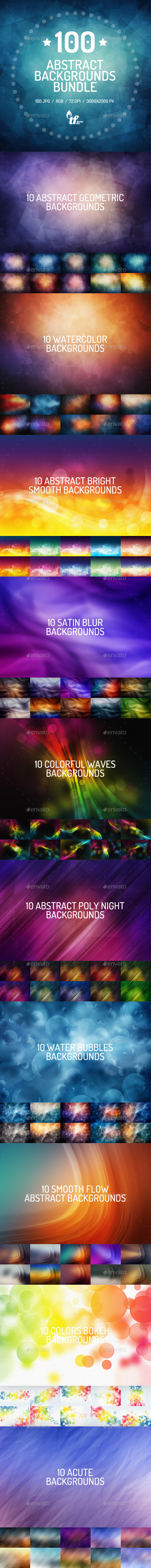 GraphicRiver 100 Abstract Backgrounds Bundle 8882705