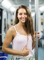 Girl passenger inside train - PhotoDune Item for Sale