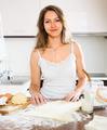 beautiful woman preparing cakes of dough - PhotoDune Item for Sale