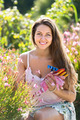 Smiling girl in garden - PhotoDune Item for Sale