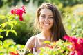 Girl in roses plants at garden - PhotoDune Item for Sale
