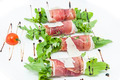 meat rolls with meat and greens on a table in a restaurant - PhotoDune Item for Sale