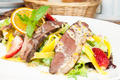 salad of duck meat and vegetables in a restaurant - PhotoDune Item for Sale