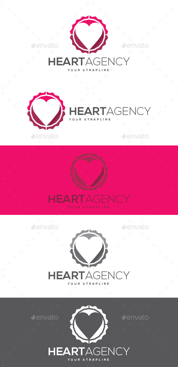 GraphicRiver Heart Agency Logo 8882991