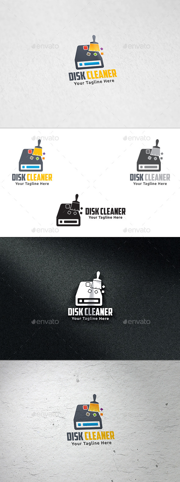 GraphicRiver Disk Cleaner Logo Template 8883099