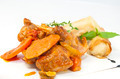 rabbit stew with mushroom sauce and cheese rolls - PhotoDune Item for Sale