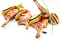roasted veal ribs with vegetables on a white plate in a restaurant - PhotoDune Item for Sale