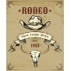 Rodeo Themed Graphic with Cowboy Hat and Skull - GraphicRiver Item for Sale