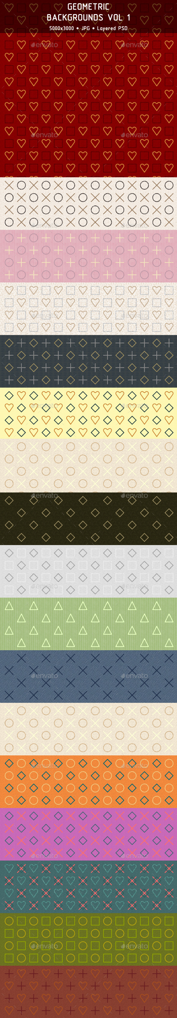 Geometric Backgrounds Vol 1