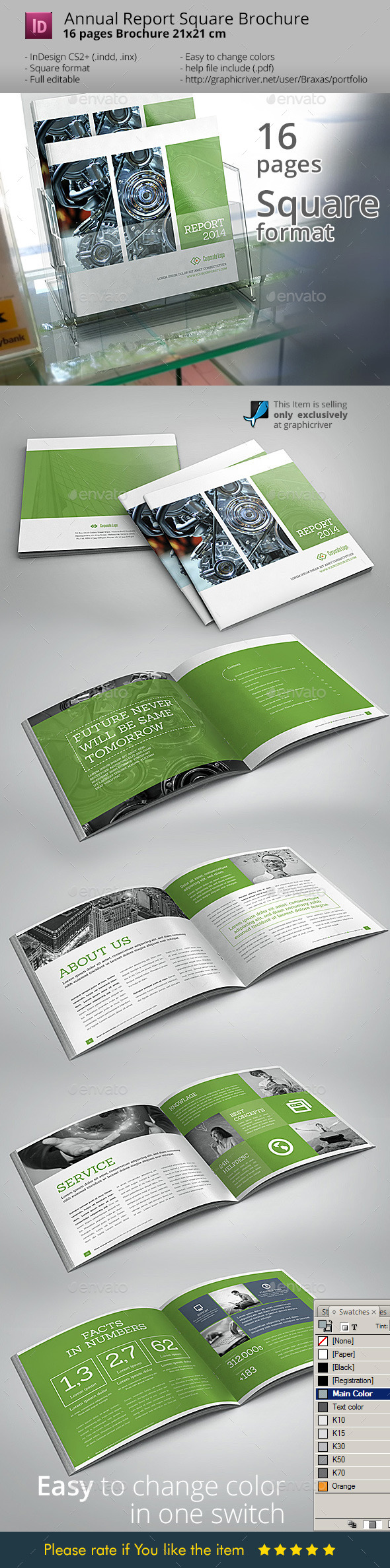 GraphicRiver Annual Square InDesign Brochure 8884483