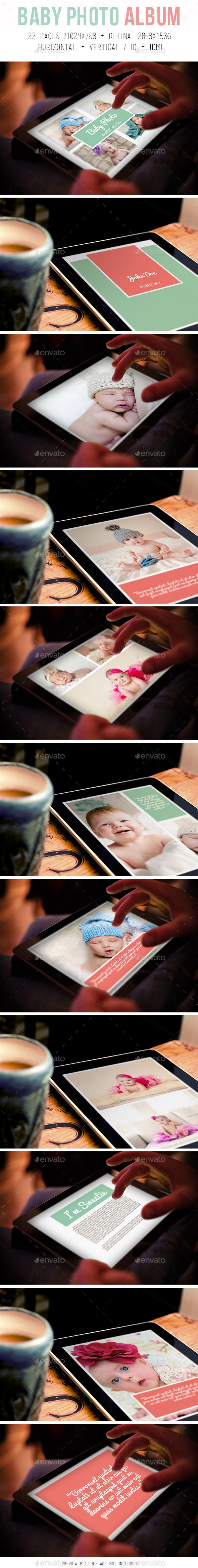 GraphicRiver Tablet Baby Photo Album 8884580