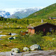 Wooden house in summer mountain (Norway) - PhotoDune Item for Sale