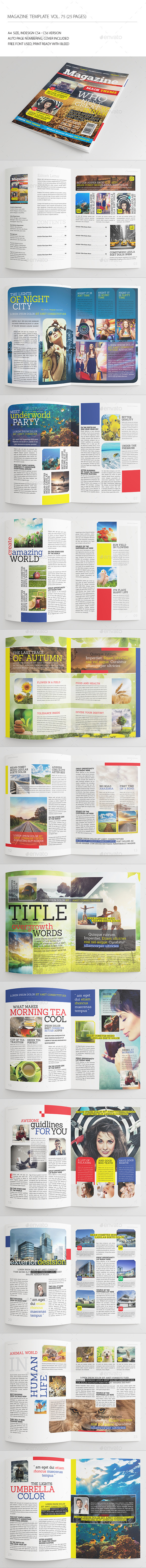 GraphicRiver 25 Pages Modern Magazine Vol75 8884839