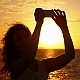 Taking Selfie at Dramatic Sunset in Slow Motion - VideoHive Item for Sale